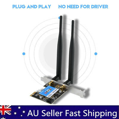Dual Band Bluetooth 4.0 Wireless Desktop WiFi WLAN Card PCIE X1 802.11ac 433M AU
