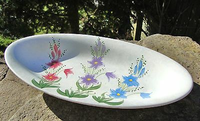 Beautiful Vintage 1930's E Radford Floral Dish - Handpainted - Good Condition