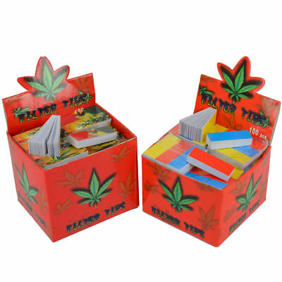 1000 Filter Tips Roach Card Rolling Paper 20 X Booklet Smoking Roaches Mix Color