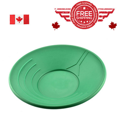 14-Inch Gold Pan Green Plastic Water Guide Three Riffles for Trapping Gold