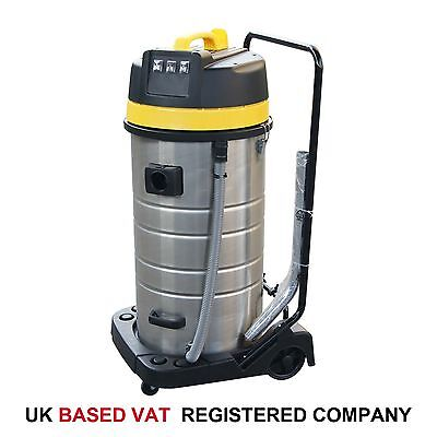 171185 Industrial Vacuum Cleaner 100L 3 Motors Wet Dry Car Carpet Cleaning