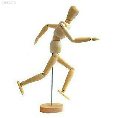 Wooden Mannequin 12Joint Doll Model Articulated Wood Adjustable Artists Display