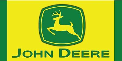 JOHN DEERE TRACTOR Equipment Logo Garage Shop Quality Vinyl Banner Sign  2 x 4'
