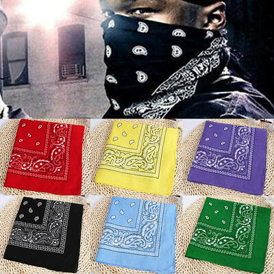 Cotton Printing Handkerchief Head Wrap Outdoor Riding Neck Scarf Hip Hop Style