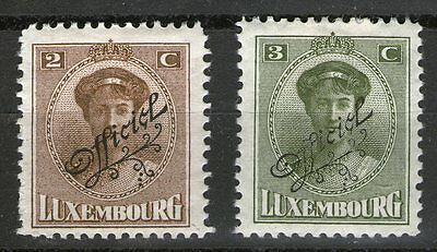Luxembourg 1922 O/P Offical x 2 - MH