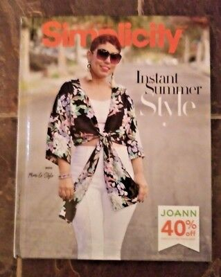 2018 Simplicity Summer Style Full Line Patterns Hardcover Catalog 1804S Mimi G