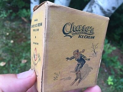 Antique Vintage Chase's Ice Cream 1/2 Pint Advertising Box
