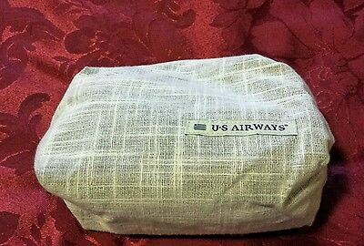 New US Airways Envoy Amenity Kit With Zippered Pouch