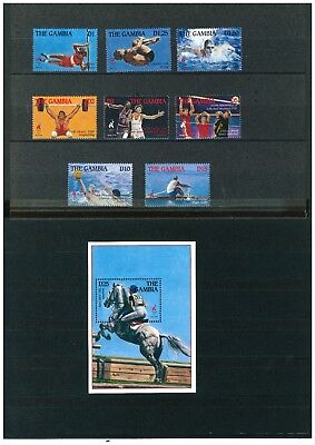 Gambia 1995 Olympic Games Atlanta 96 set of stamps plus mini sheet. All mint.