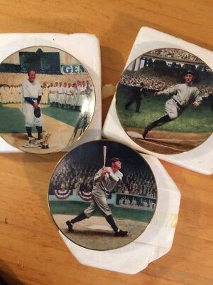3 Delphi COLLECTION THE LEGENDS OF BASEBALL  BABE RUTH Ty Cobb Lou Gehrig