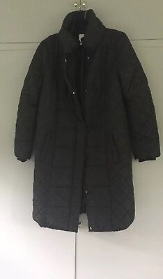 Mamalicious Quilted Padded Maternity Coat - Size Large