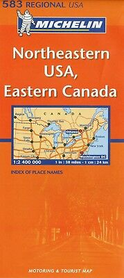 NORTHEASTERN USA EASTERN CANADA Carta Regionale Stati Uniti Michelin N. 583