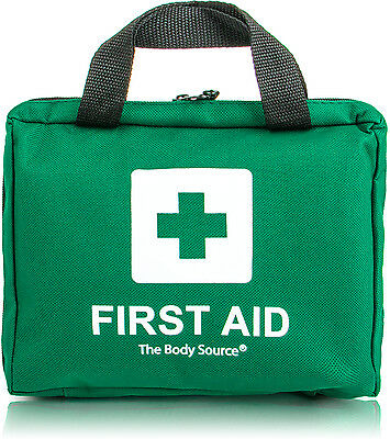 90 Piece Premium First Aid Kit - Includes Eyewash, 2 x Ice Packs & Foil Blanket