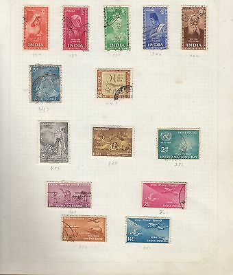 INDIA Collection on Old Album Page stamps removed for shipping(ab)