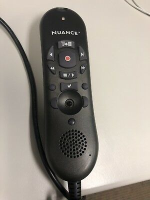 Nuance PowerMic II USB - Works Great. Missing Button Cover.