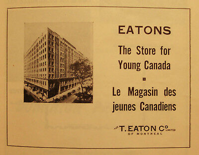Eatons - Store Ad - Vintage 1940's French/english Advertising- Montreal - Quebec