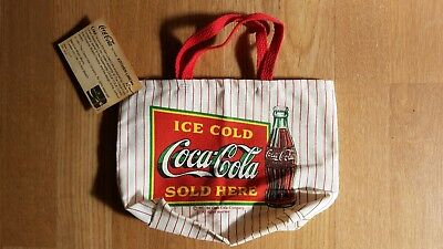 1990 Coca Cola Canvas Lunch Tote Bag, New With Tags