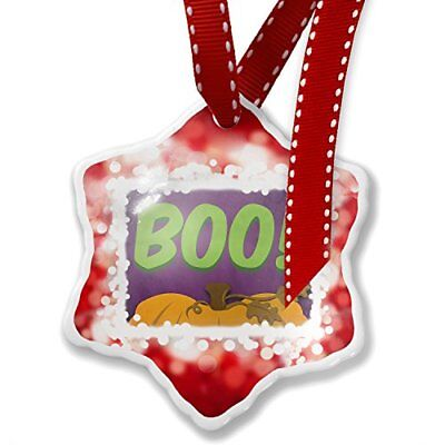 Christmas Ornament Boo! Halloween Pumpkin Top, red - Neonblond