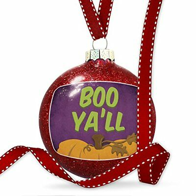 Christmas Decoration Boo Ya'll Halloween Pumpkin Top Ornament