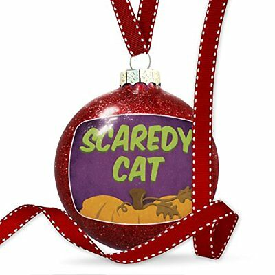 Christmas Decoration Scaredy Cat Halloween Pumpkin Top Ornament