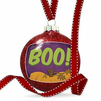 Christmas Decoration Boo! Halloween Pumpkin Top Ornament