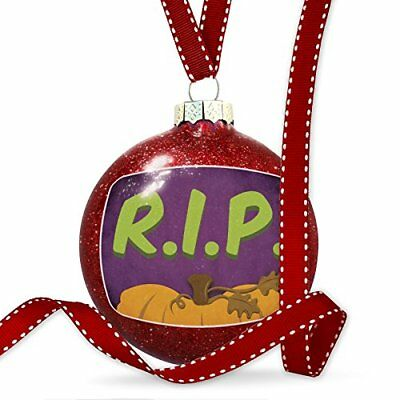 Christmas Decoration RIP Halloween Pumpkin Top Ornament