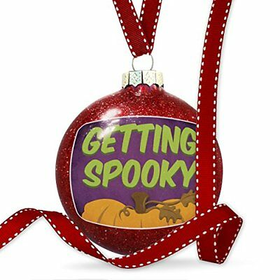 Christmas Decoration Getting Spooky Halloween Pumpkin Top Ornament