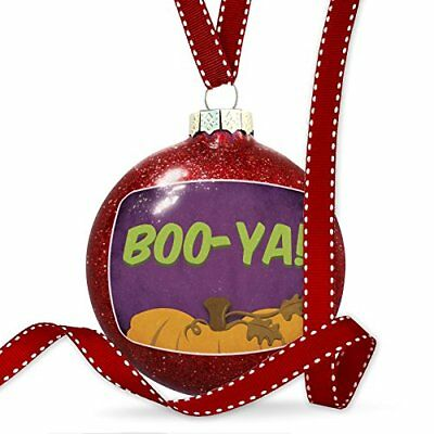 Christmas Decoration BOO-YA! Halloween Pumpkin Top Ornament
