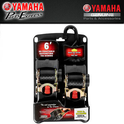 "NEW YAMAHA HEAVY-DUTY 2"" 4000lb RETRACTABLE RATCHETING TIE DOWNS ACC-OSS58-40-18"