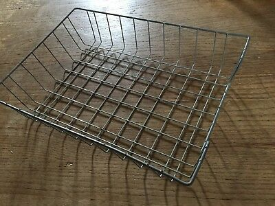 Vintage Metal Wire Paper Mid-Century Tray Desk In Out Letter Box Basket Holder