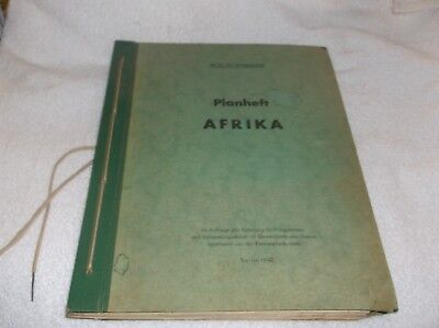 Germany map planning book German general staff use only 1942 Africa rare
