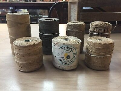 Vintage Collectible Flax Cord 7 Rolls