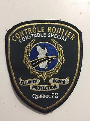 Controle Routier Quebec CRQ Police Patch