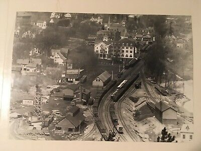 Vintage photo Boston & Maine Railroad yard station Plymouth NH Pemigewasset