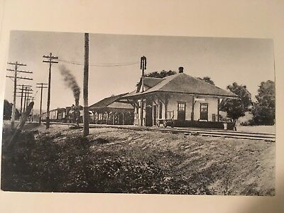 Vintage photo Boston & Maine Railroad station Ashland NH