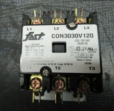 Fast Contactor Con3030V120 600V 30A 40A/res **warranty Included**
