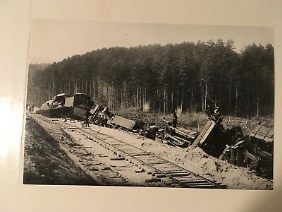 Vintage photo Boston  Maine Railroad loco 33 C & M wreck Woodsville new yard