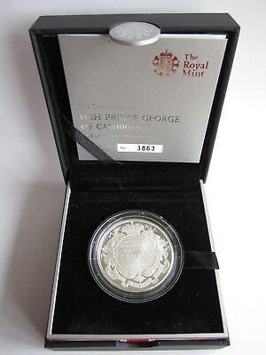 2013 Royal Mint UK Silver Proof £5 coin - The Christening of HRH Prince George
