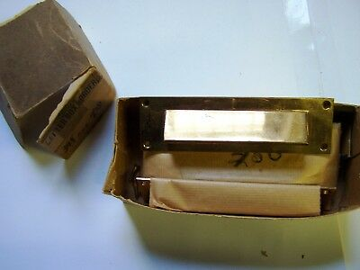 Lot of 5 Vintage NOS Brass Letter Box Plates