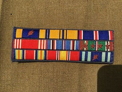 Original Nine Place Ribbon Bar for WW2 Veteran Dress Uniform