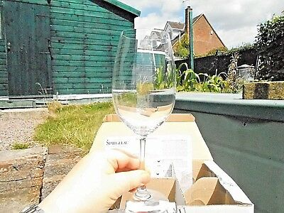 REDUCED! Set of 6 NEW Spiegelau Crystal Wine Glasses Crystal Lead Free with box