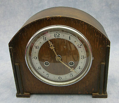 1930s Art Deco Bentima Mantel Clock Perivale Movement Parts or Repair