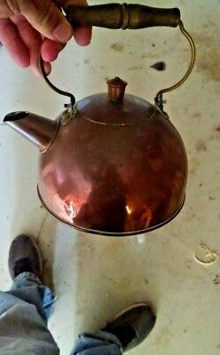 Vintage Revere Copper Tea Kettle Kitchen Home Decor Collectibles #8
