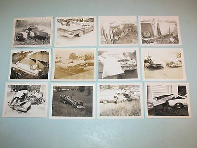12 vintage 1950-60s BAD CAR WRECK PHOTOGRAPHS ~MOST FROM WEAKLEY COUNTY,TENN