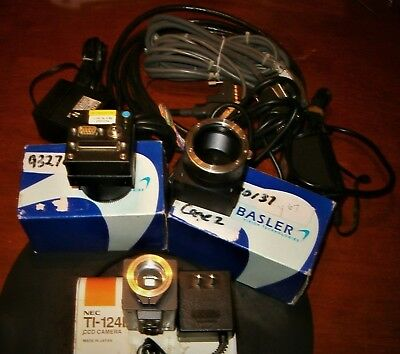 3 Industrial Camera 2 BASLER L120 2K + NEC TI-124B all with box+ power supply