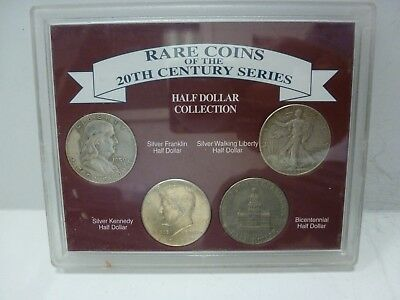 20TH Century Half Dollar Type Set of 4 U.S. Coins Mint Style Holder