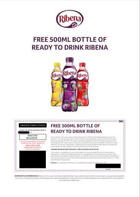 50 Ribena Vouchers for 50  bottles of ready to drink Ribena