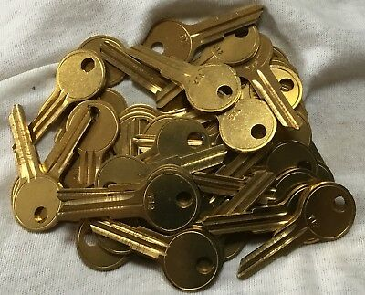 Lot Of 50 Locksmith Yale Y12 Key Blanks Fits Yale & More Solid Brass Ships Free.