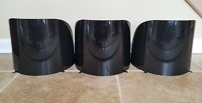 "Polycarbonate Traffic Light Signal Visors 12"" Set Of Three Black"