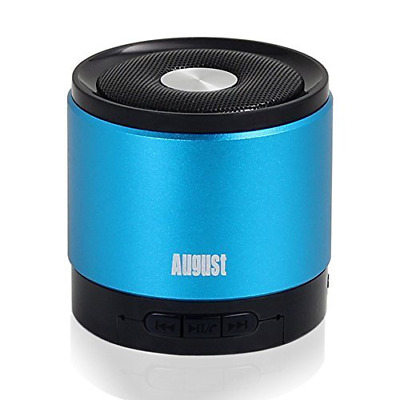 Portable Bluetooth Wireless Speaker with Microphone 5 hours play time blue new